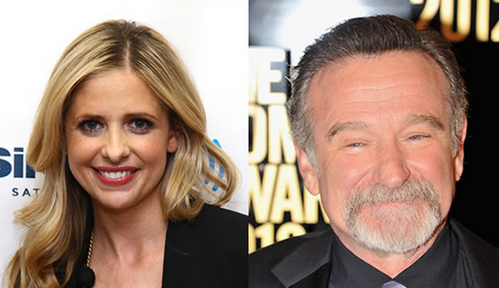 Sarah Michelle Gellar e Robin Williams nella serie Crazy Ones della CBS