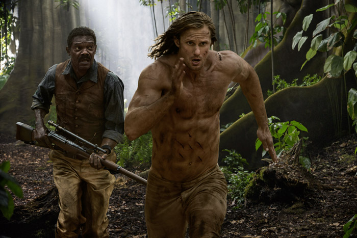 Samuel L. Jackson e Alexander Skarsgard in The Legend of Tarzan