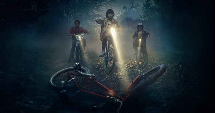Scena dalla serie tv Stranger Things