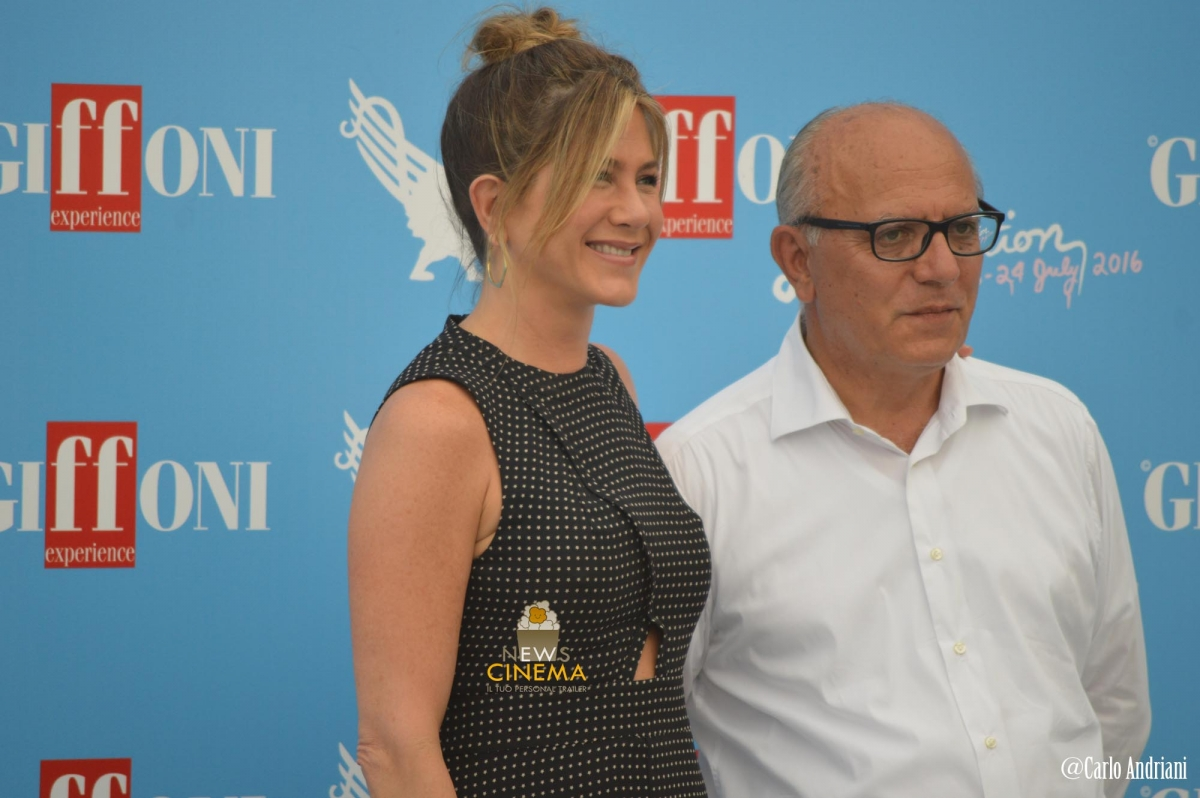 Jennifer Aniston e Claudio Gubitosi photocall