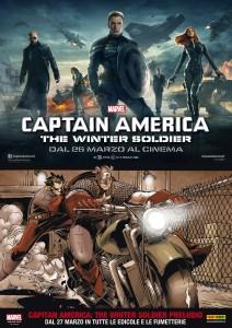 captain america film e fumetto poster