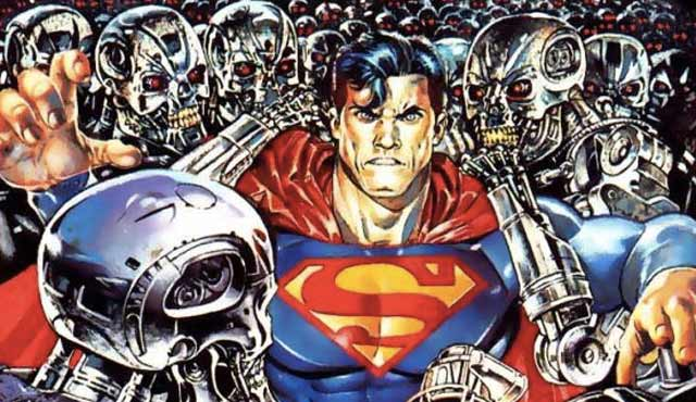 Superman vs The Terminator: Morte al futuro potrebbe vincere il premio per i partecipanti più incompatibili di un crossover! Lo scrittore Alan Grant e l'artista Steve Pugh hanno creato una storia che ritrova Sarah e John Connor a Metropolis quando i Terminator li raggiungono. Superman arriva per salvarli, e viene risucchiato nel mondo del futuro, mentre Supergirl, Superboy e Lois Lane cercano di mantenere Sarah e John vivi contro i Terminator che sono stati aggiornati per combattere i supereroi.