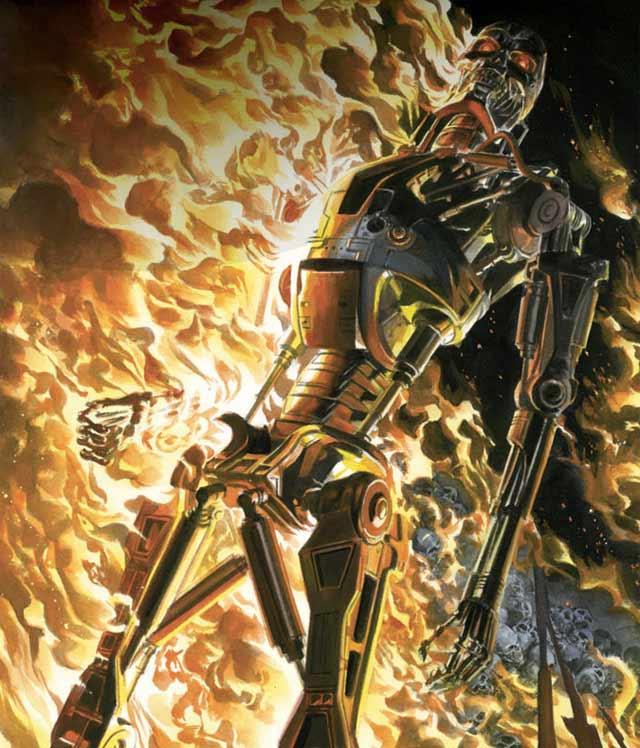 Nel 1988 Now Comics ha lanciato i fumetti di Terminator con una serie di 17 edizioni ambientati nel mondo del futuro rappresentato nel film, con John Connor come protagonista. Questo è stato il primo tentativo di rendere un franchise oltre il film originale Terminator.