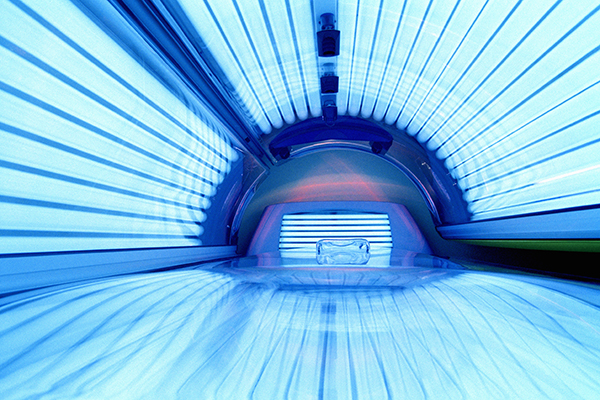Illuminated tanning bed
