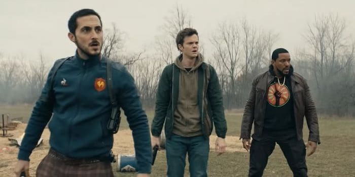 tomer capon as frenchie jack quaid as hughie and laz alonso as mothers milk mm in the boys